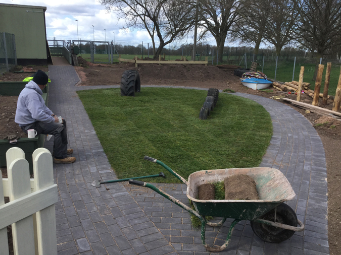 Whittington Preschool, Staffordshire, Garden transformation